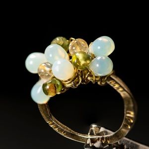 Artisan crafted OOAK gem stone ring. Gorgeous!